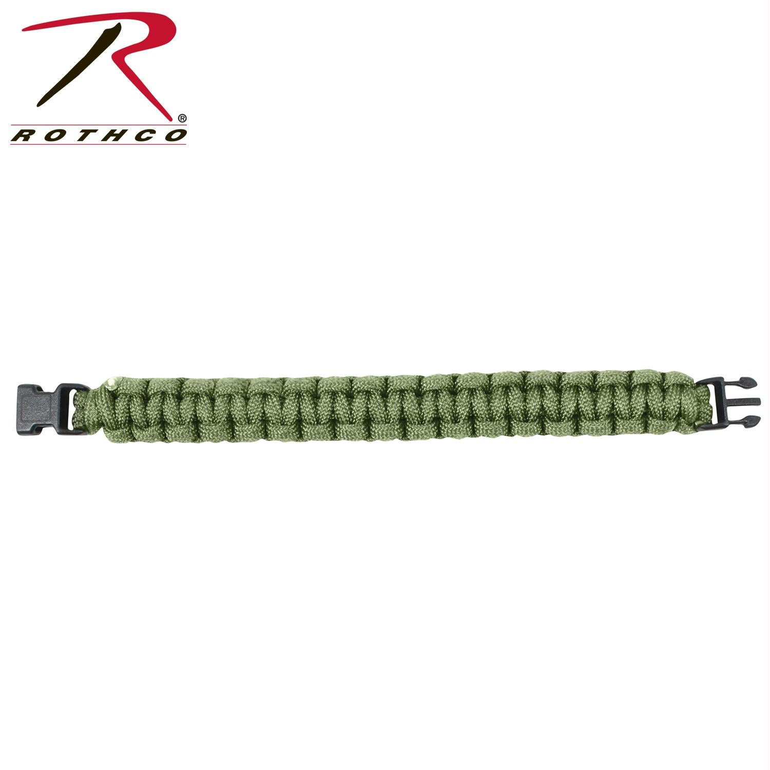 Rothco Solid Color Paracord Bracelet - Olive Drab / 10 Inches