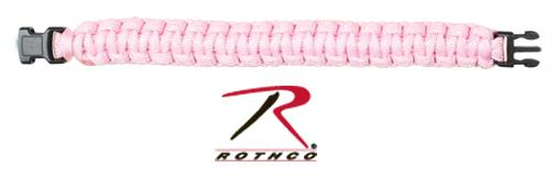 Rothco Solid Color Paracord Bracelet - Pink / 8 Inches
