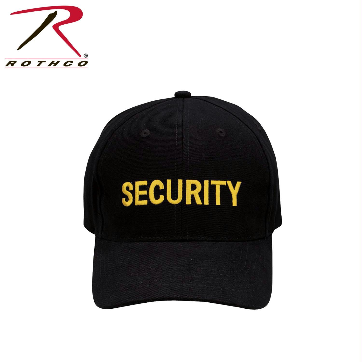 Rothco Security Supreme Low Profile Insignia Cap - Black / Gold