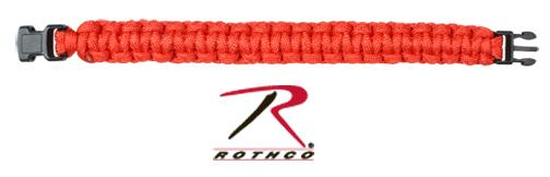 Rothco Solid Color Paracord Bracelet - Red / 7 Inches