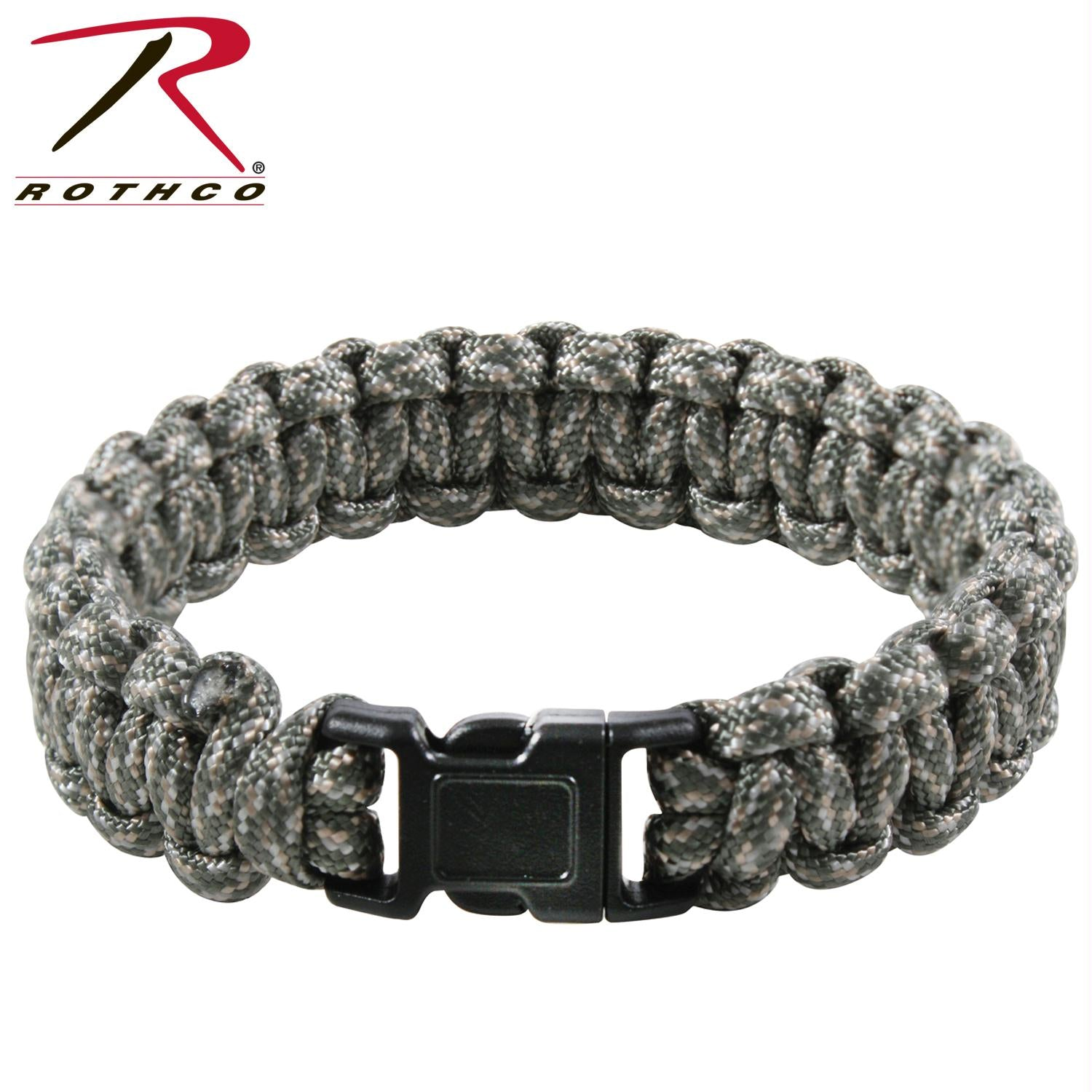 Rothco Multi-Colored Paracord Bracelet - Foliage Green / 7 Inches