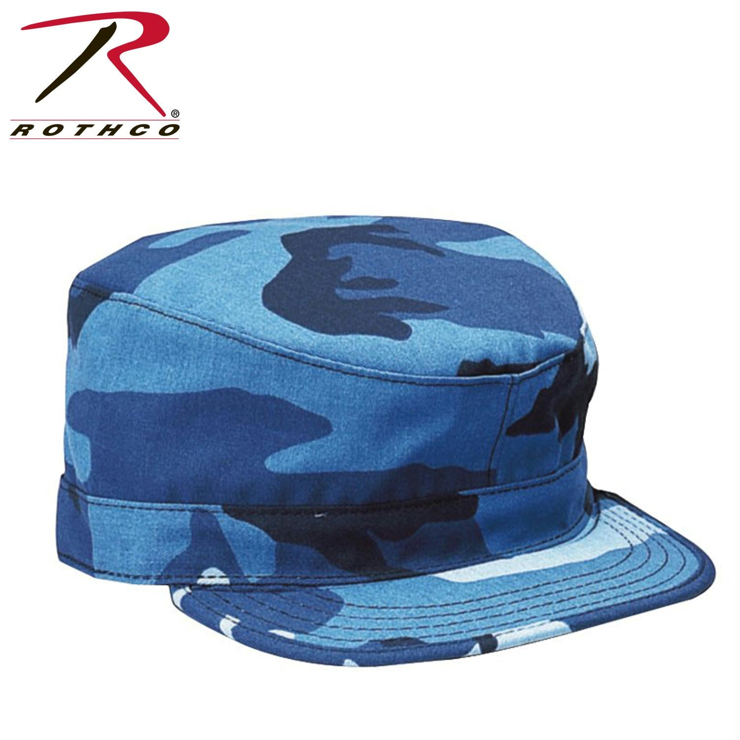 Rothco Camo Fatigue Caps - Sky Blue Camo / L