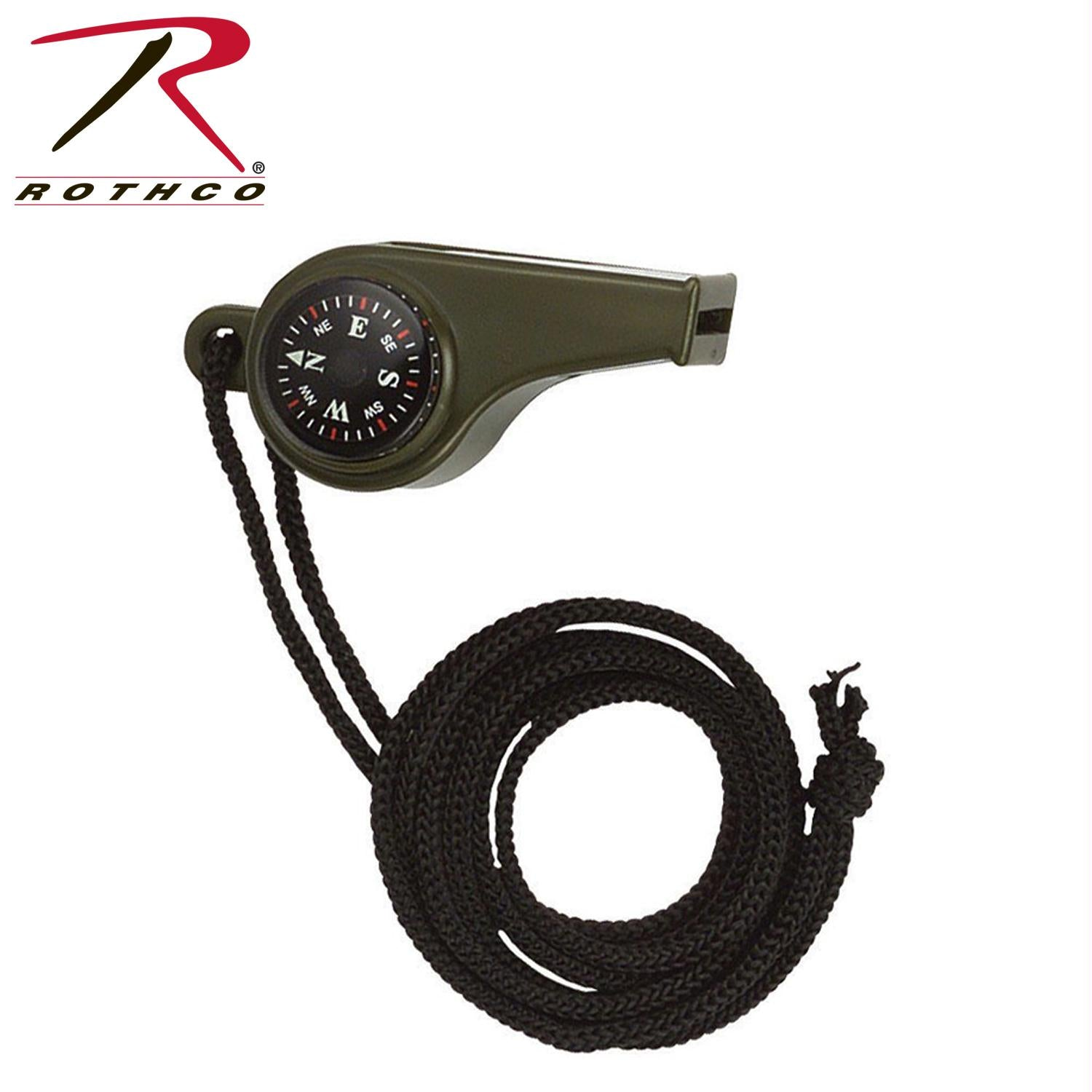 Rothco Super Whistle with Compass & Thermometer