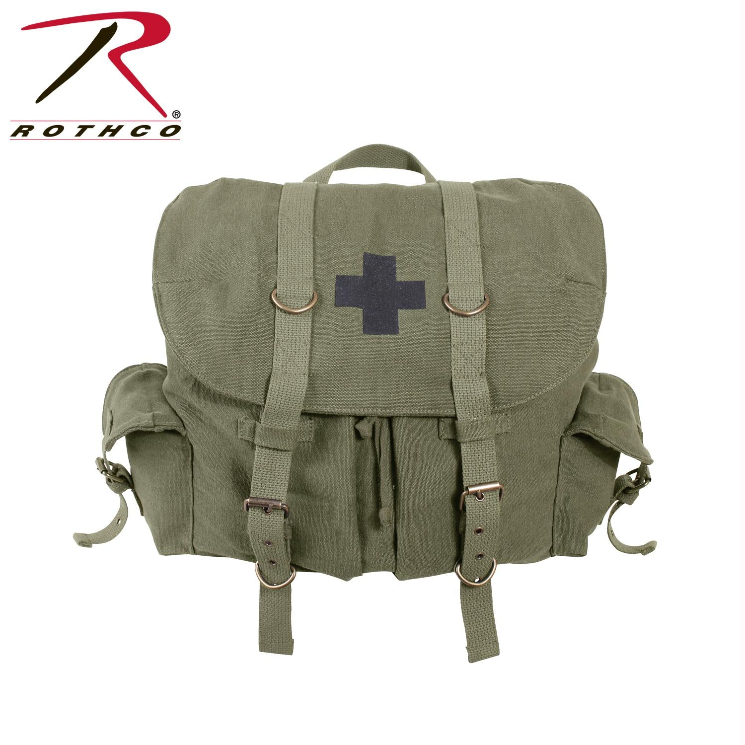 Rothco Compact Weekender Backpack With Cross - Olive Drab w/ Black Cross