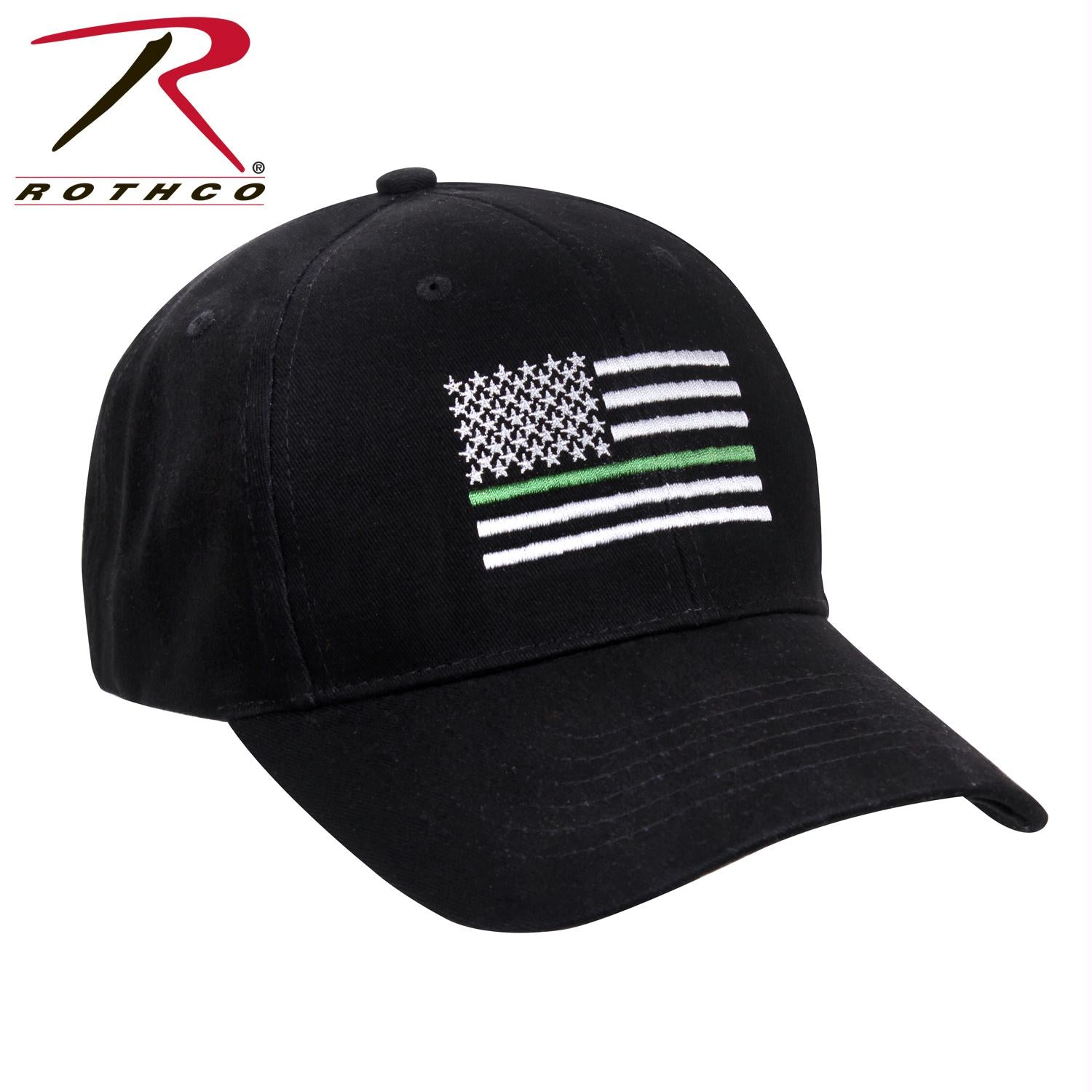 Rothco Thin Green Line Flag Low Pro Cap - Black / One Size