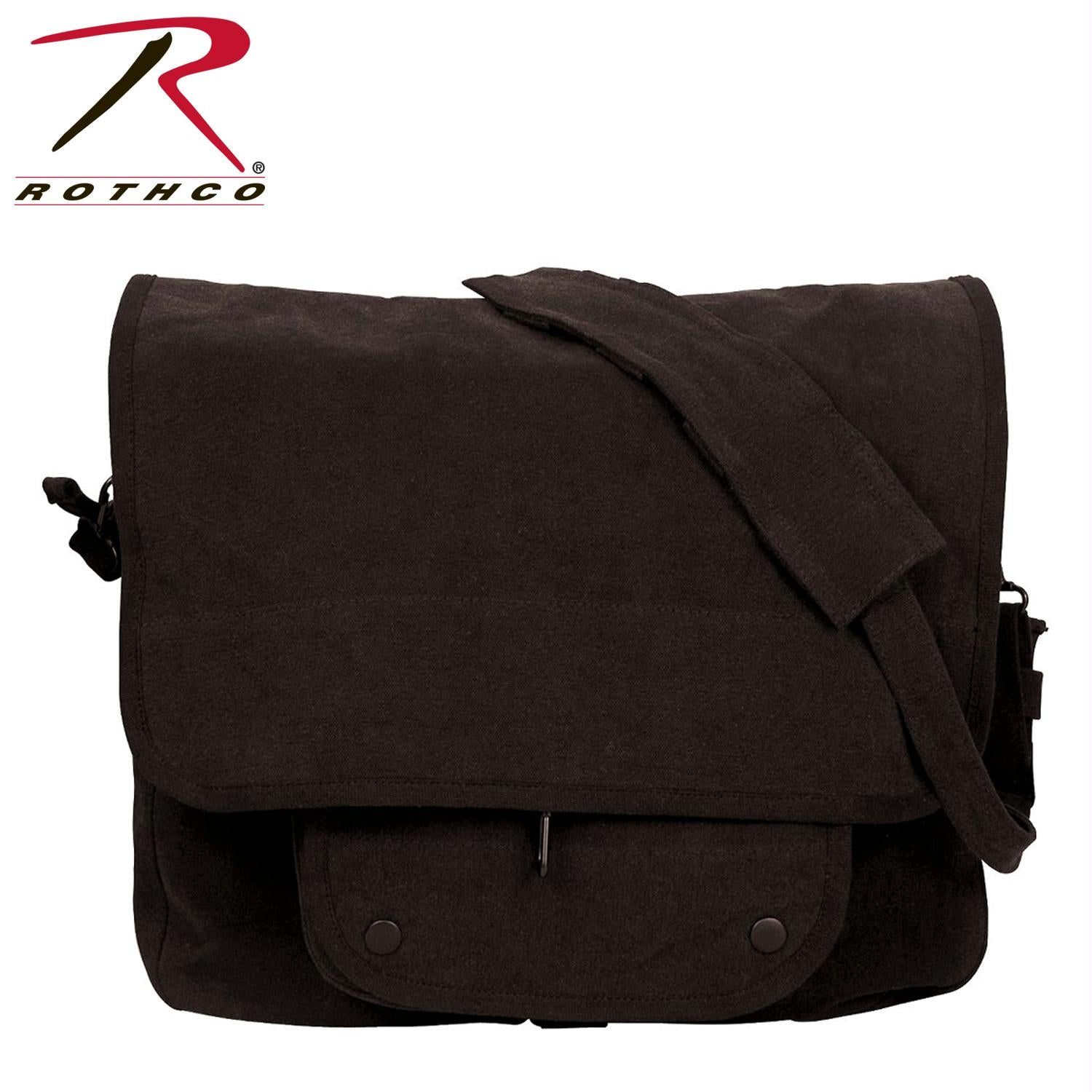 Rothco Vintage Canvas Paratrooper Bag - Black