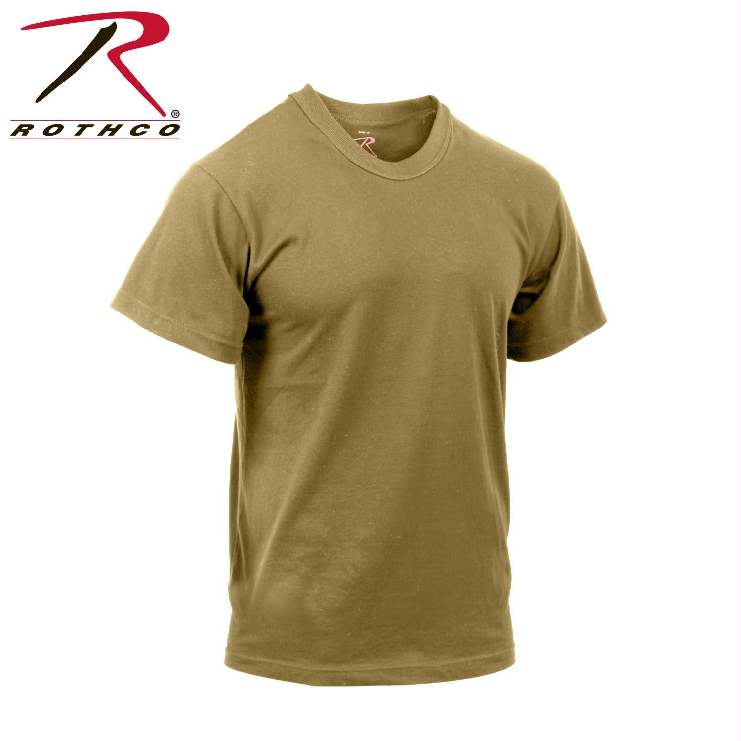 Rothco Moisture Wicking T-Shirts - Brown / 3XL