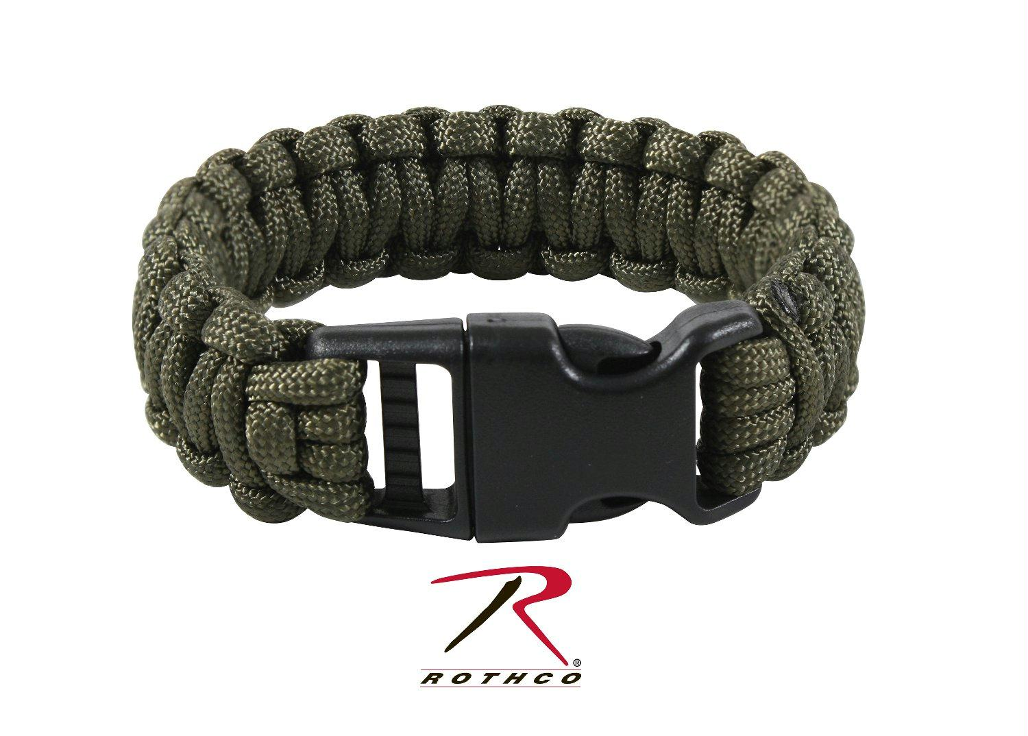 Rothco Deluxe Paracord Bracelets - Olive Drab / 8 Inches