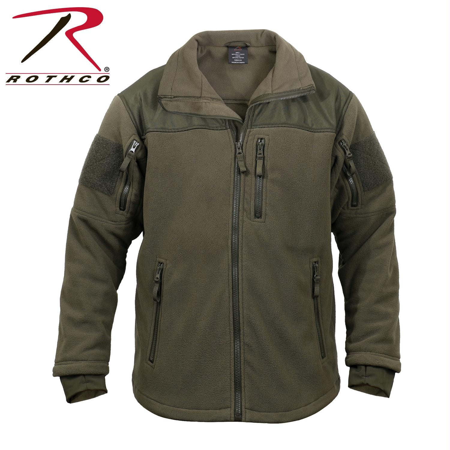 Rothco Spec Ops Tactical Fleece Jacket - Olive Drab / 2XL