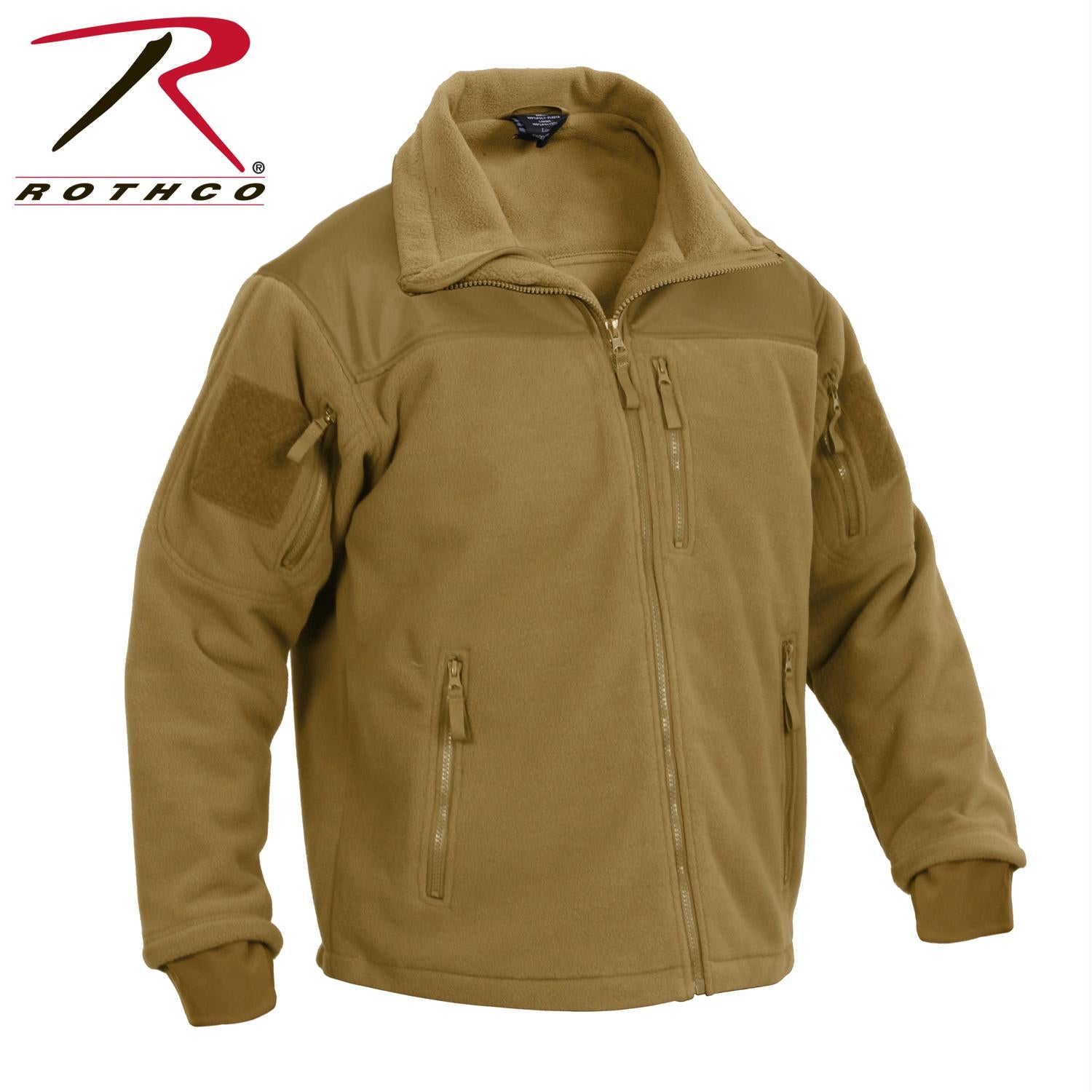 Rothco Spec Ops Tactical Fleece Jacket - Coyote Brown / S
