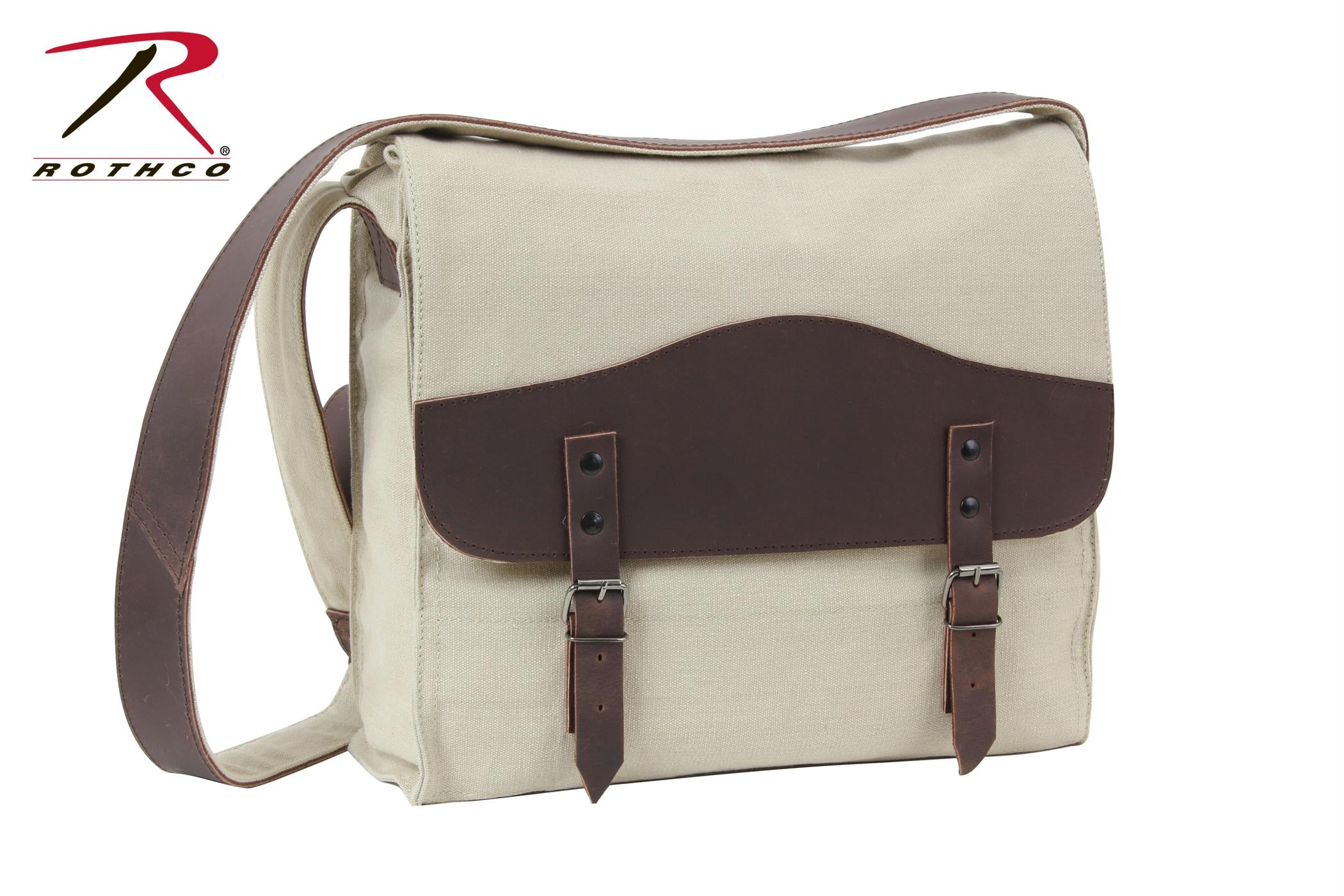 Rothco Vintage Canvas Medic Bag w/ Leather Accents - Khaki