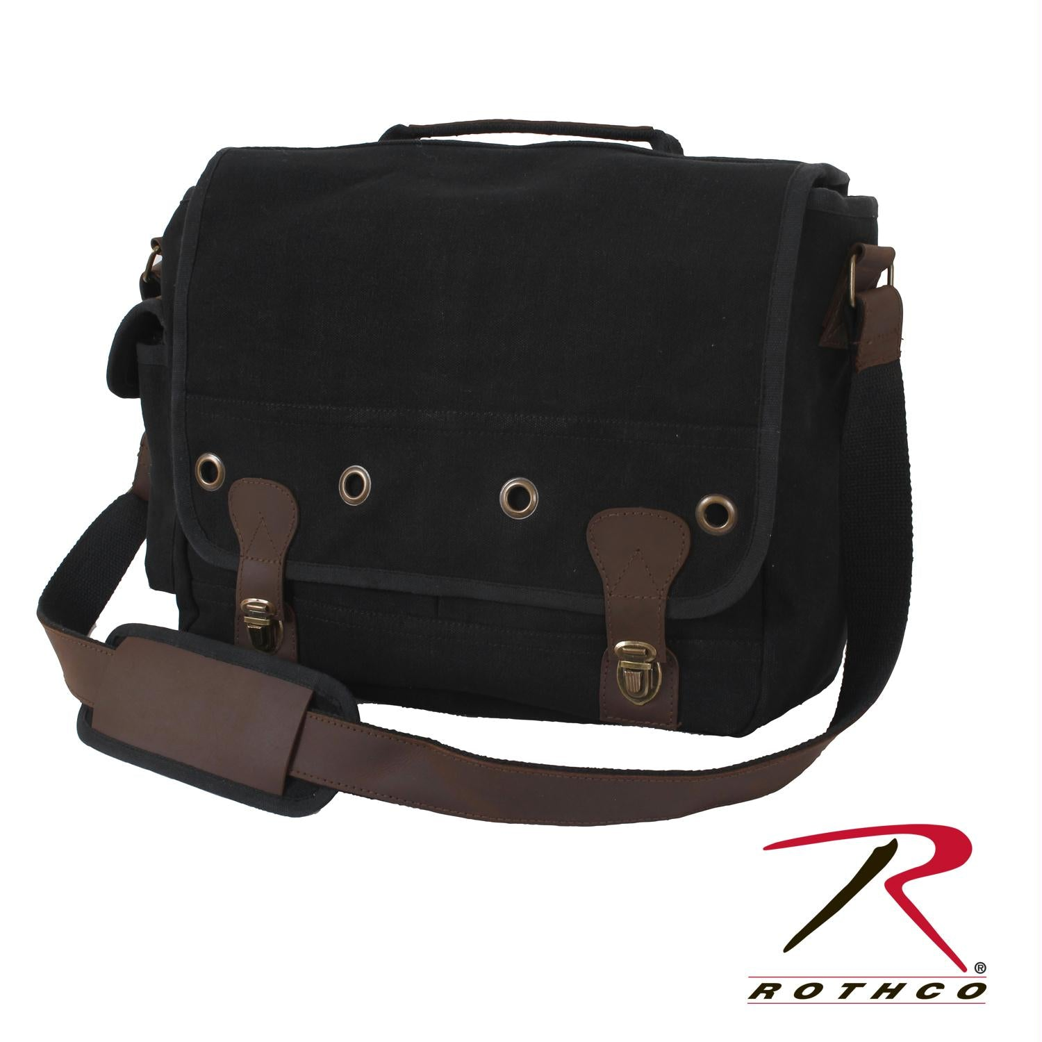Rothco Canvas Trailblazer Laptop Bag - Black