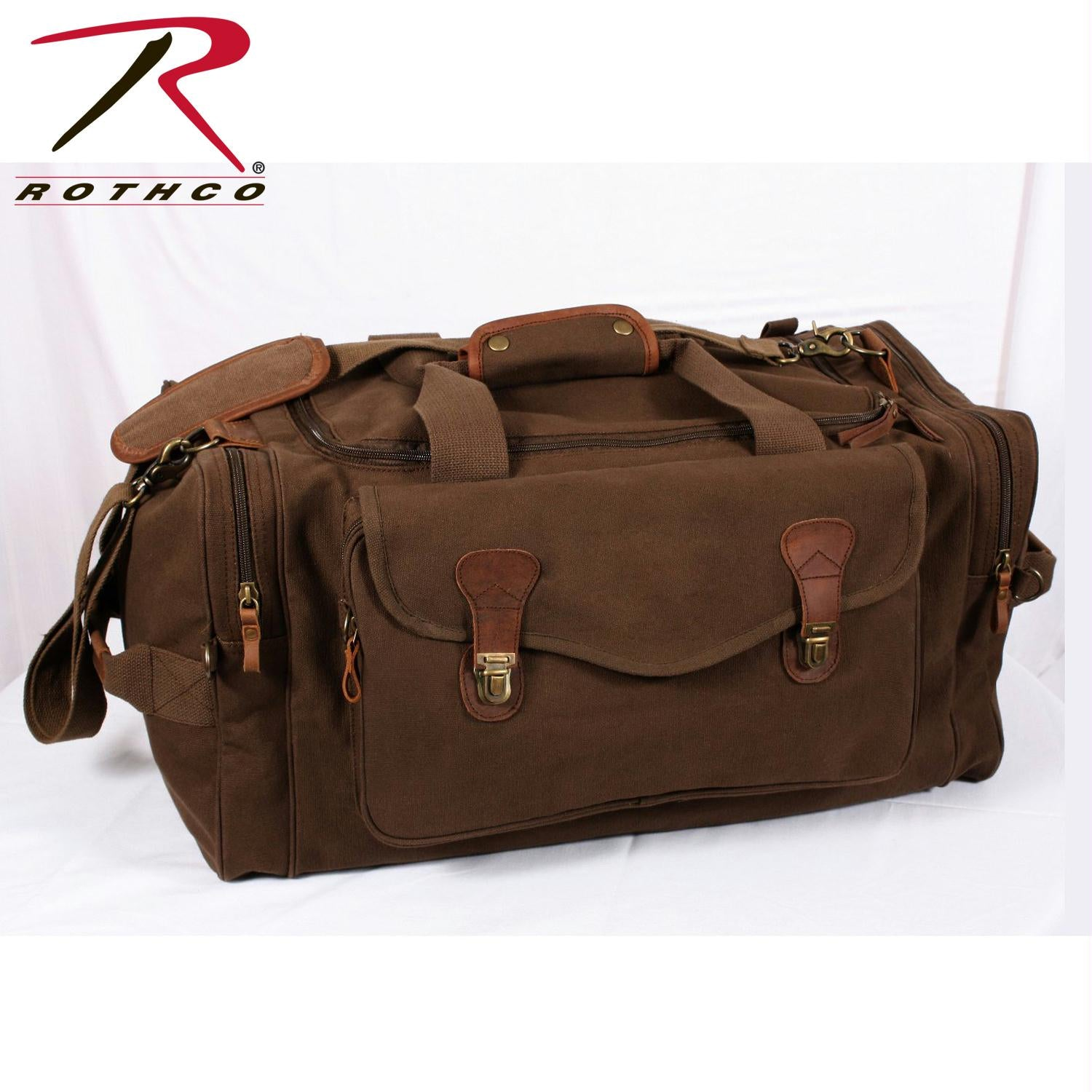 Rothco Canvas Long Weekend Bag - Brown