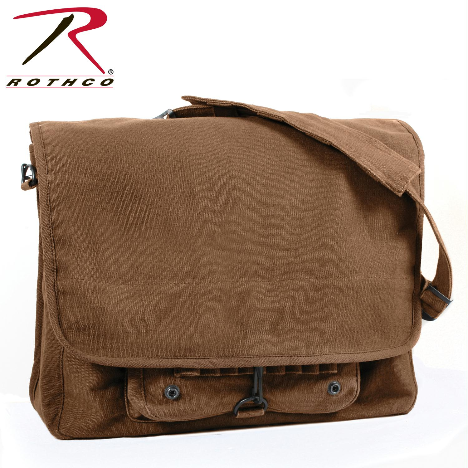 Rothco Vintage Canvas Paratrooper Bag - Brown