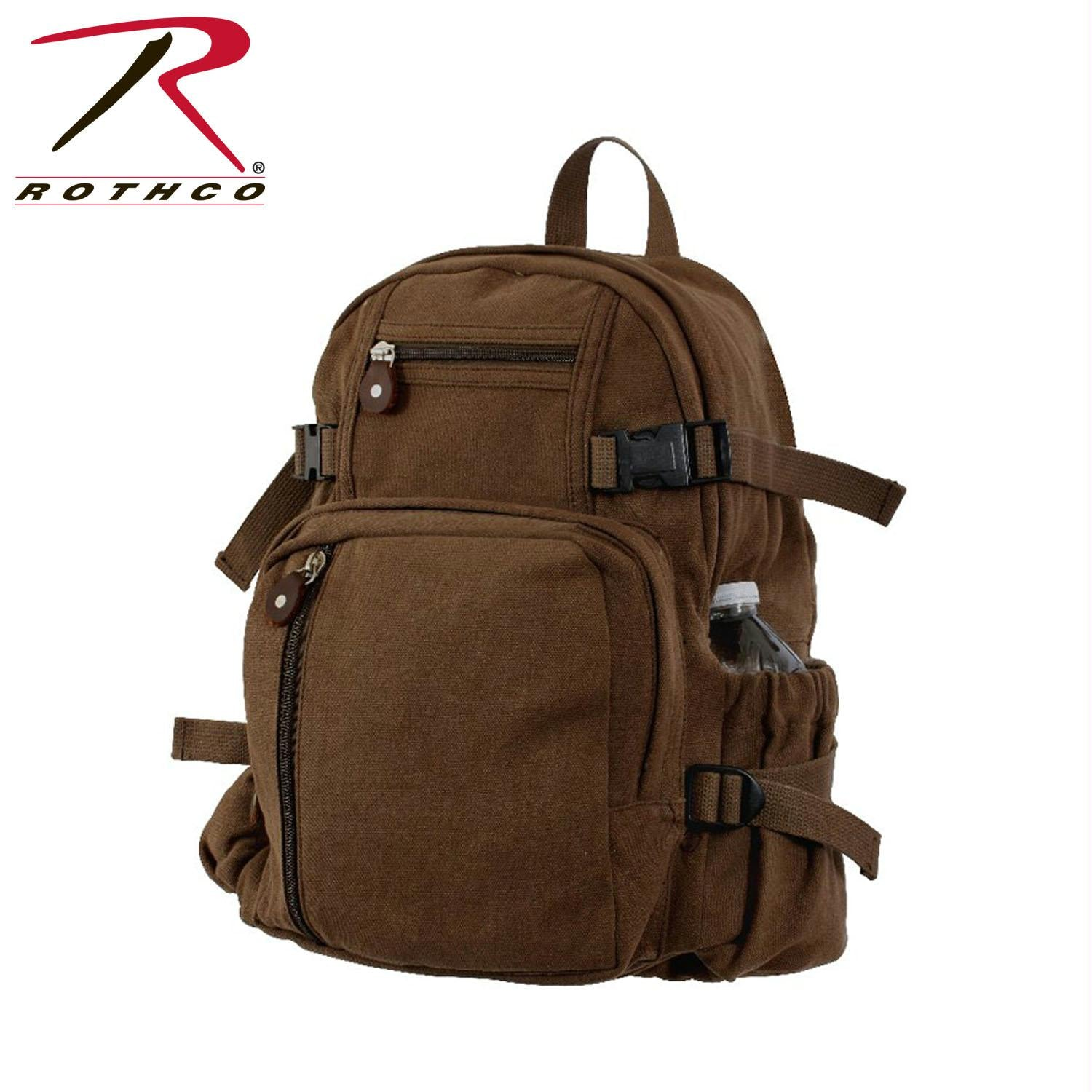 Rothco Vintage Canvas Mini Backpack - Brown