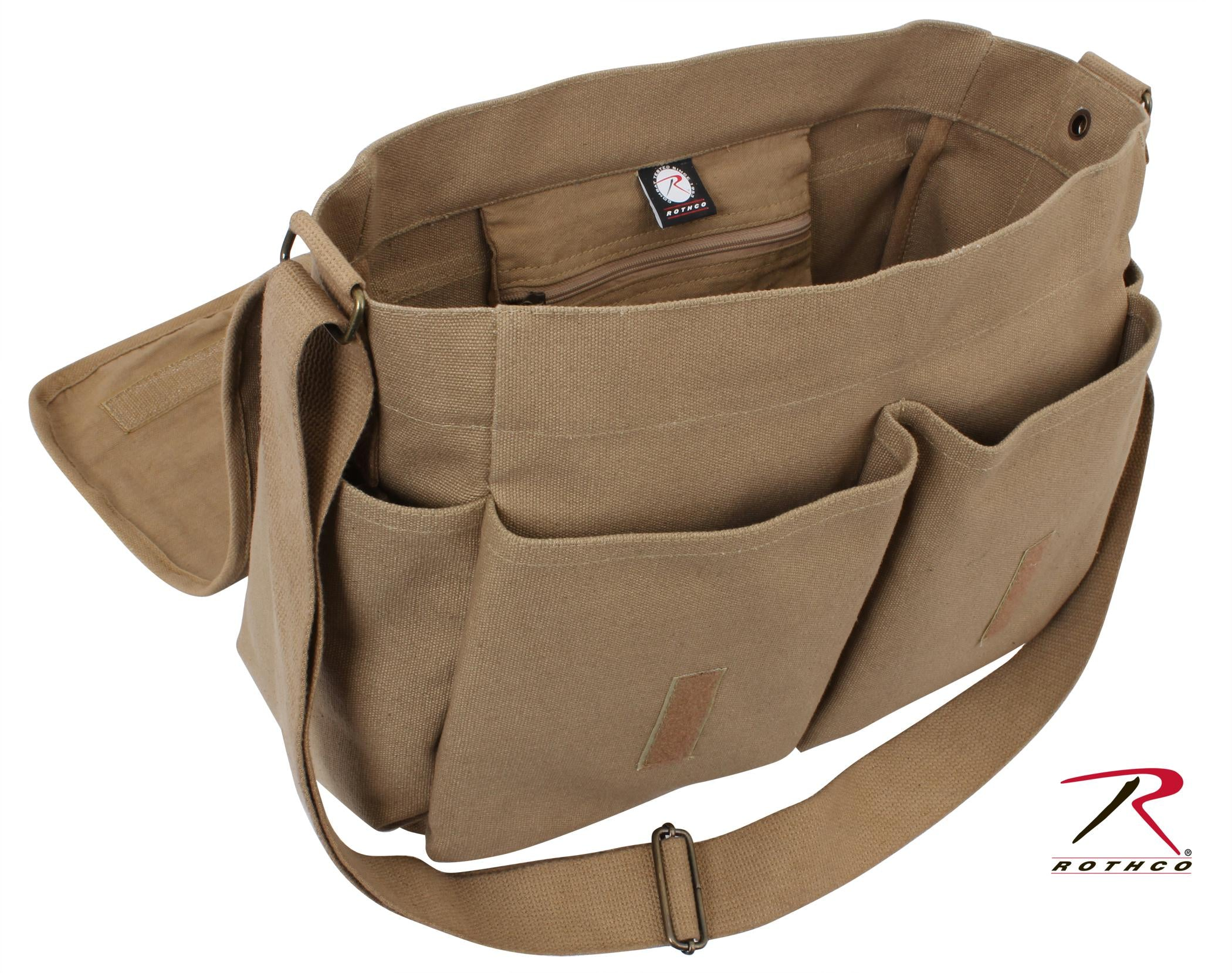 Rothco Vintage Unwashed Canvas Messenger Bag - Coyote Brown