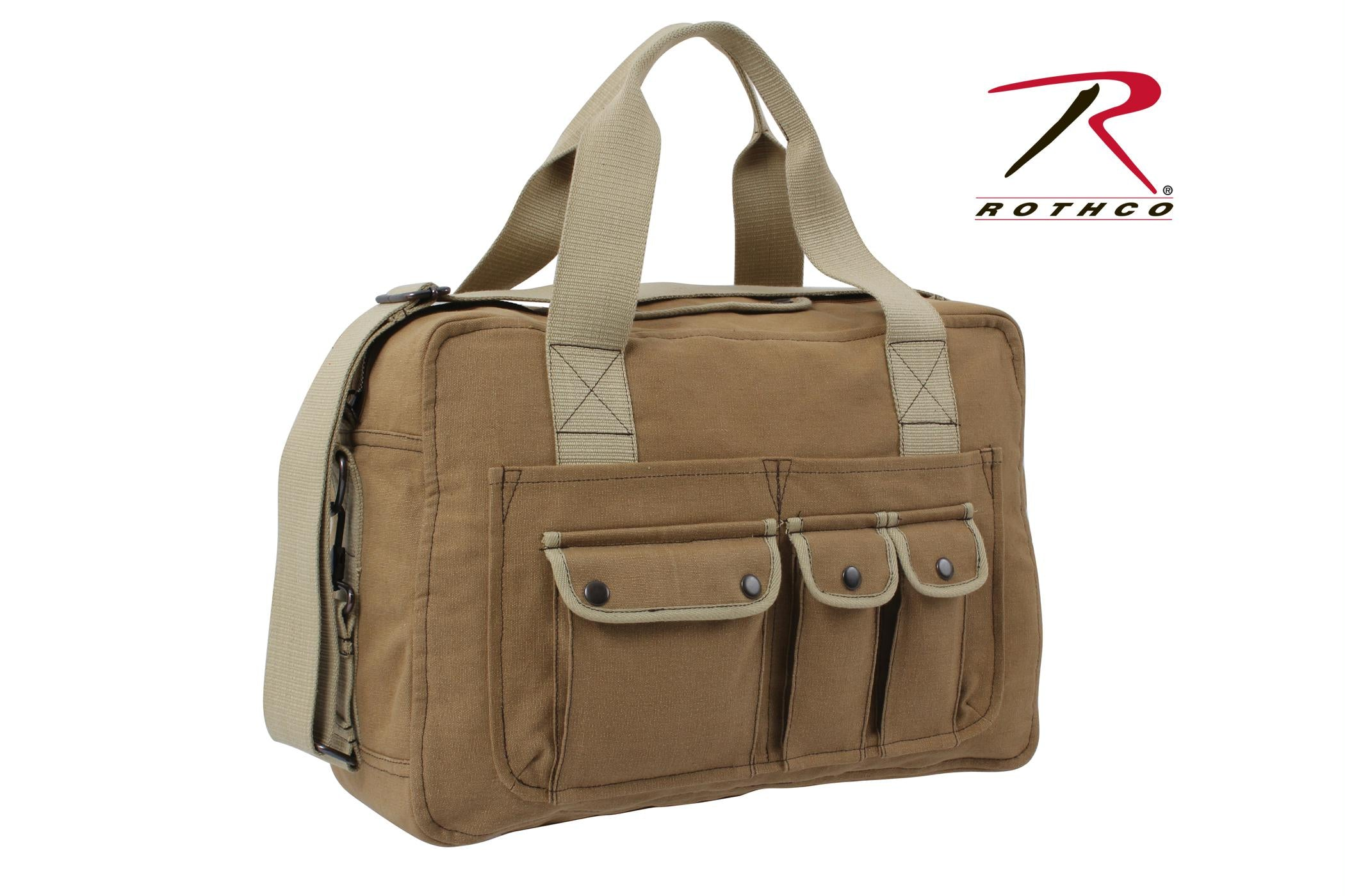 Rothco Two Tone Specialist Carry All Shoulder Bag - Coyote Brown