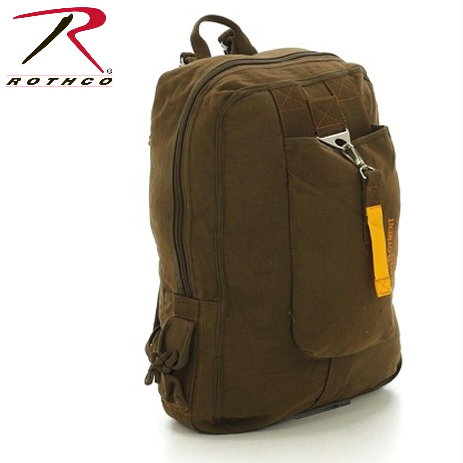 Rothco Vintage Canvas Flight Bag - Brown