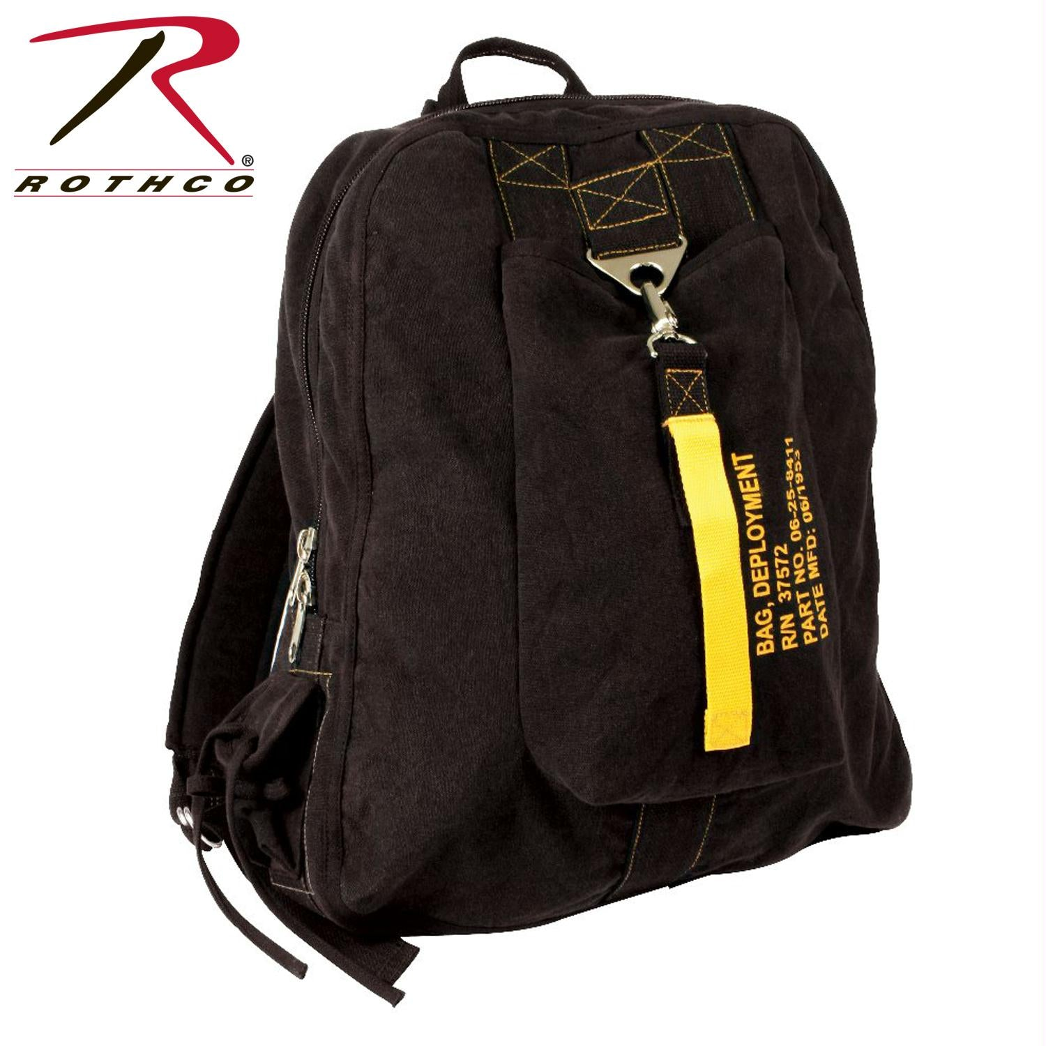 Rothco Vintage Canvas Flight Bag - Black