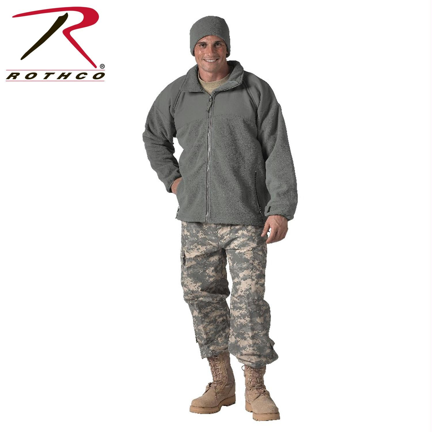 Rothco Military ECWCS Polar Fleece Jacket/Liner - Foliage Green / S