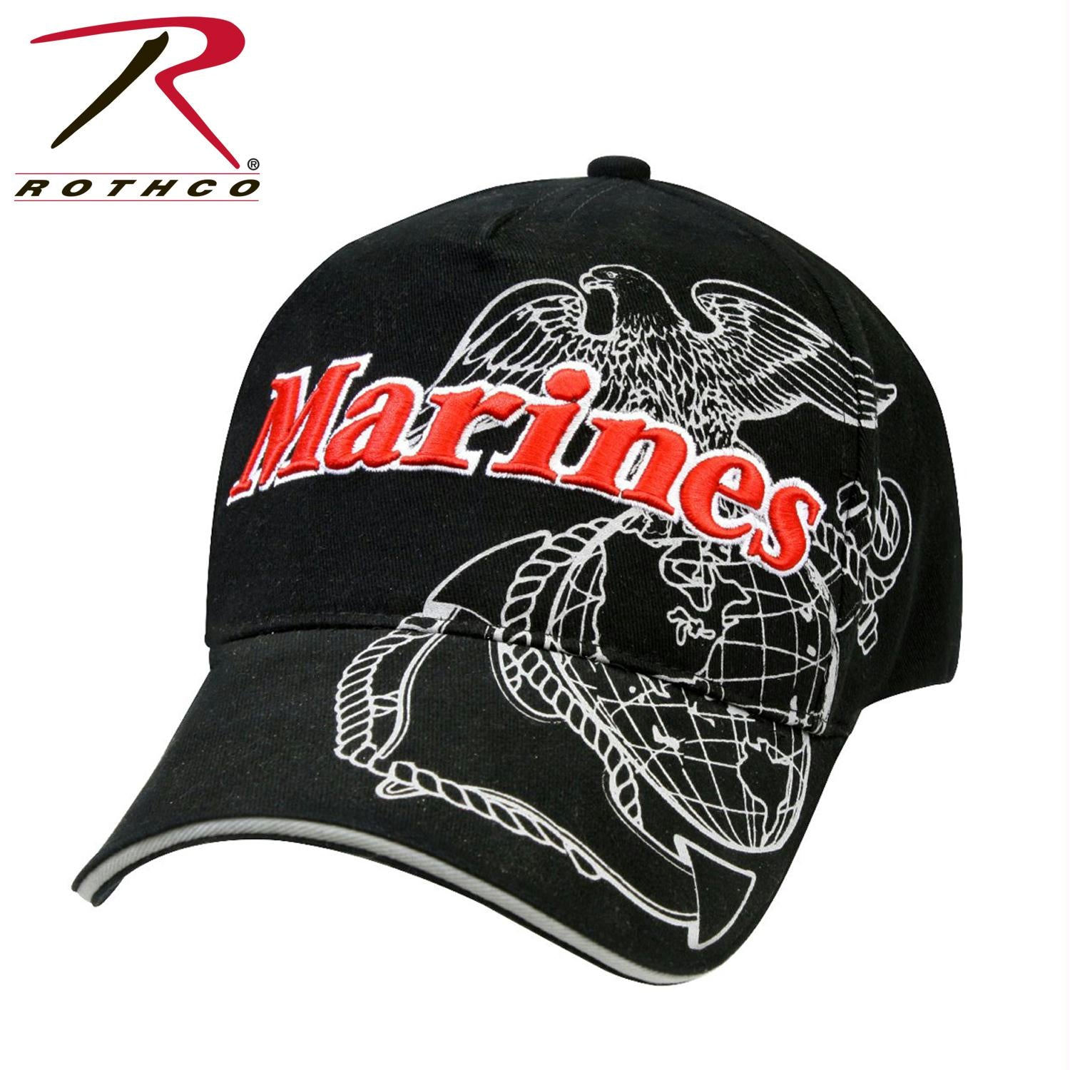 Rothco Deluxe Marines G&A Low Profile Insignia Cap - Black