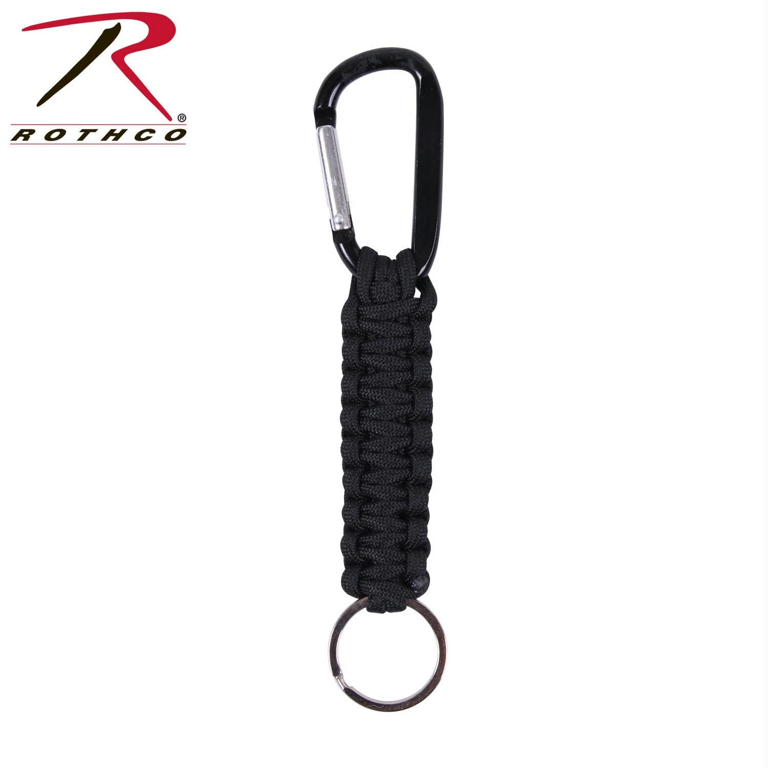 Rothco Paracord Keychain with Carabiner - Black