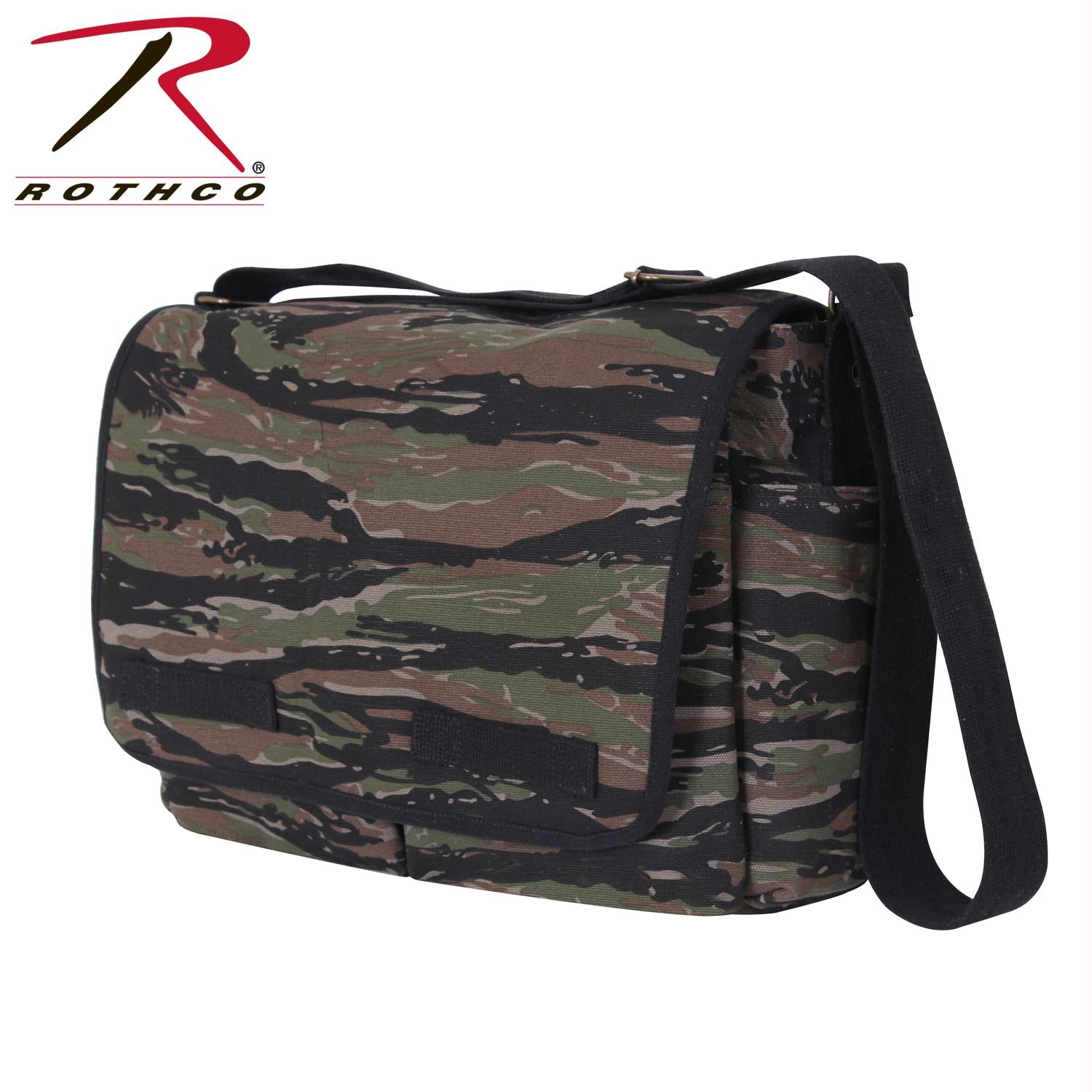 Rothco Vintage Unwashed Canvas Messenger Bag - Tiger Stripe Camo