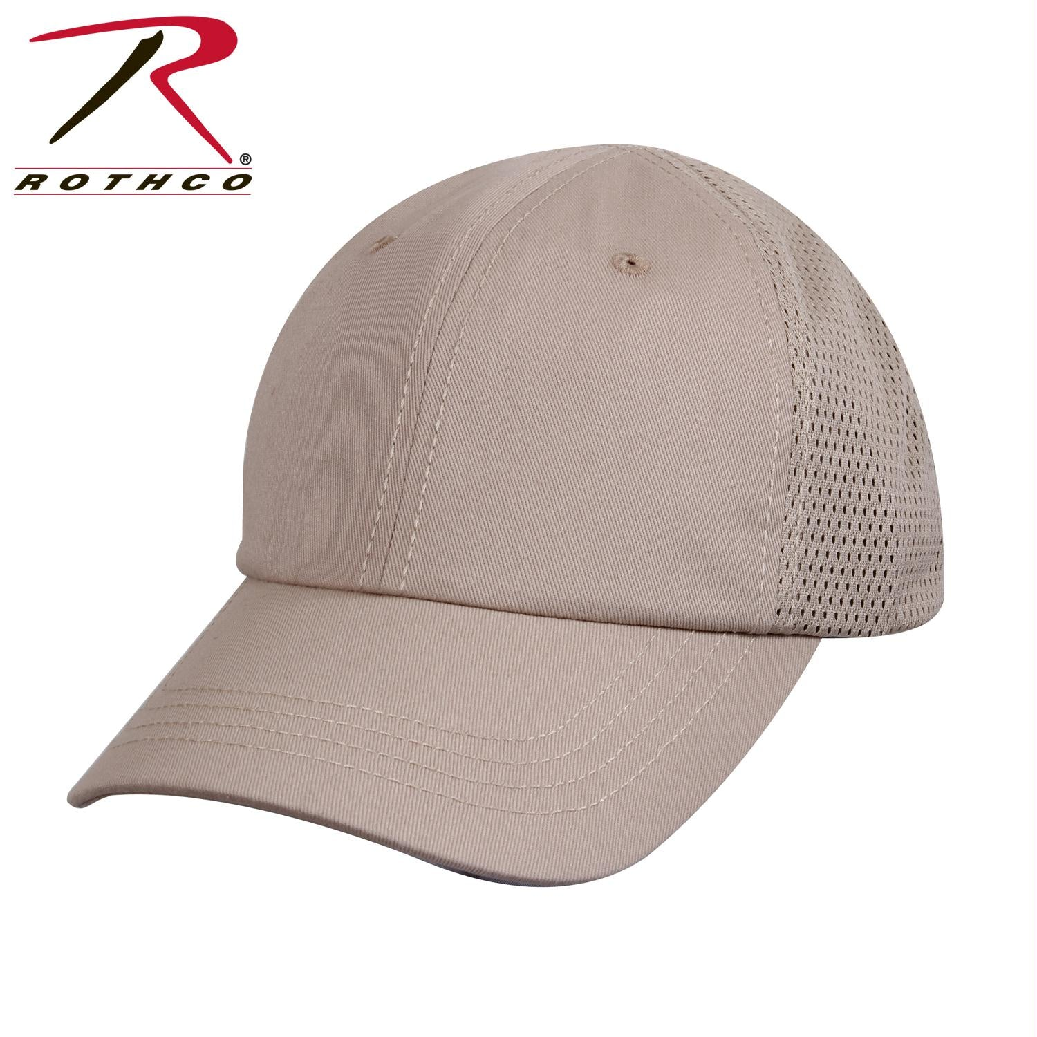 Rothco Mesh Back Tactical Cap - Khaki / One Size