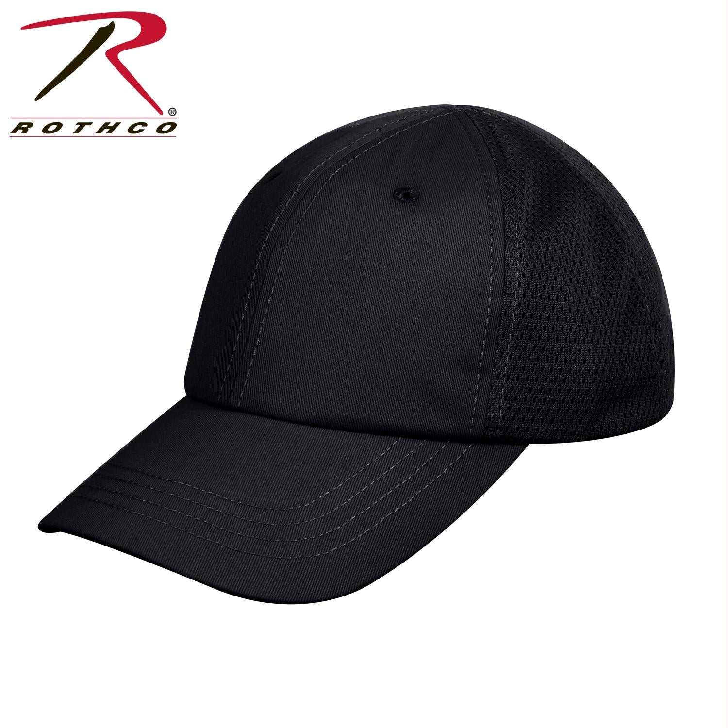 Rothco Mesh Back Tactical Cap - Black / One Size