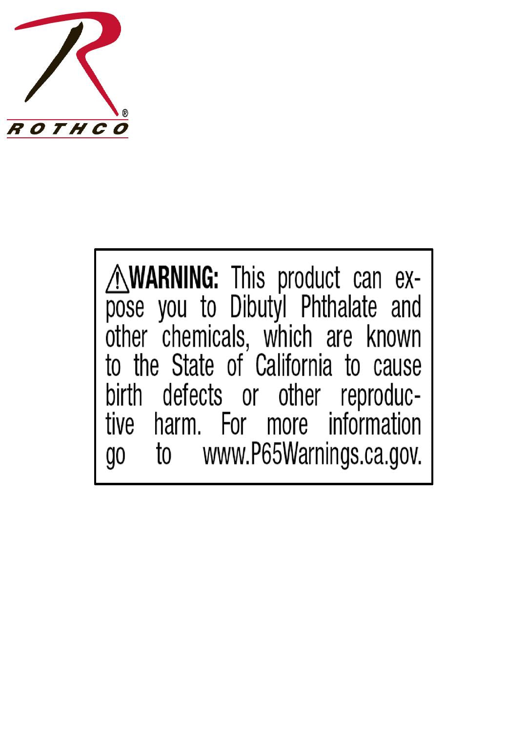 California Prop 65 Chemical Warning Labels