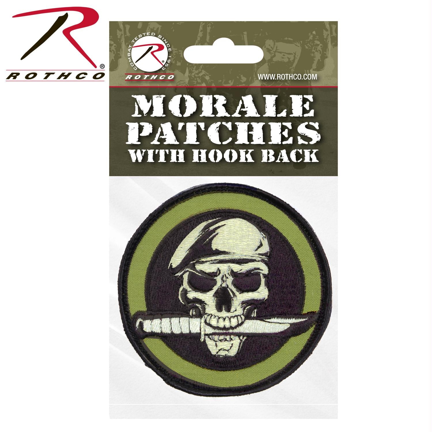 Rothco Military Skull & Knife Morale Patch - Header Card