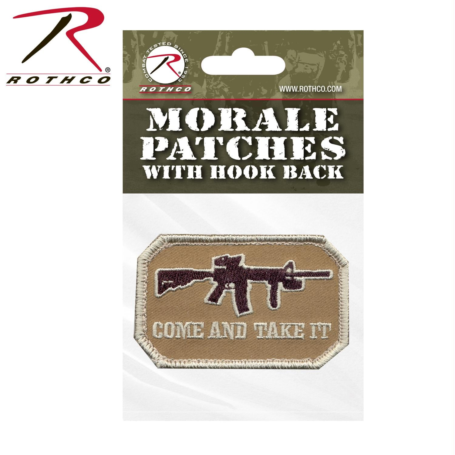 Rothco Come and Take It Morale Patch - Bulk Packaging