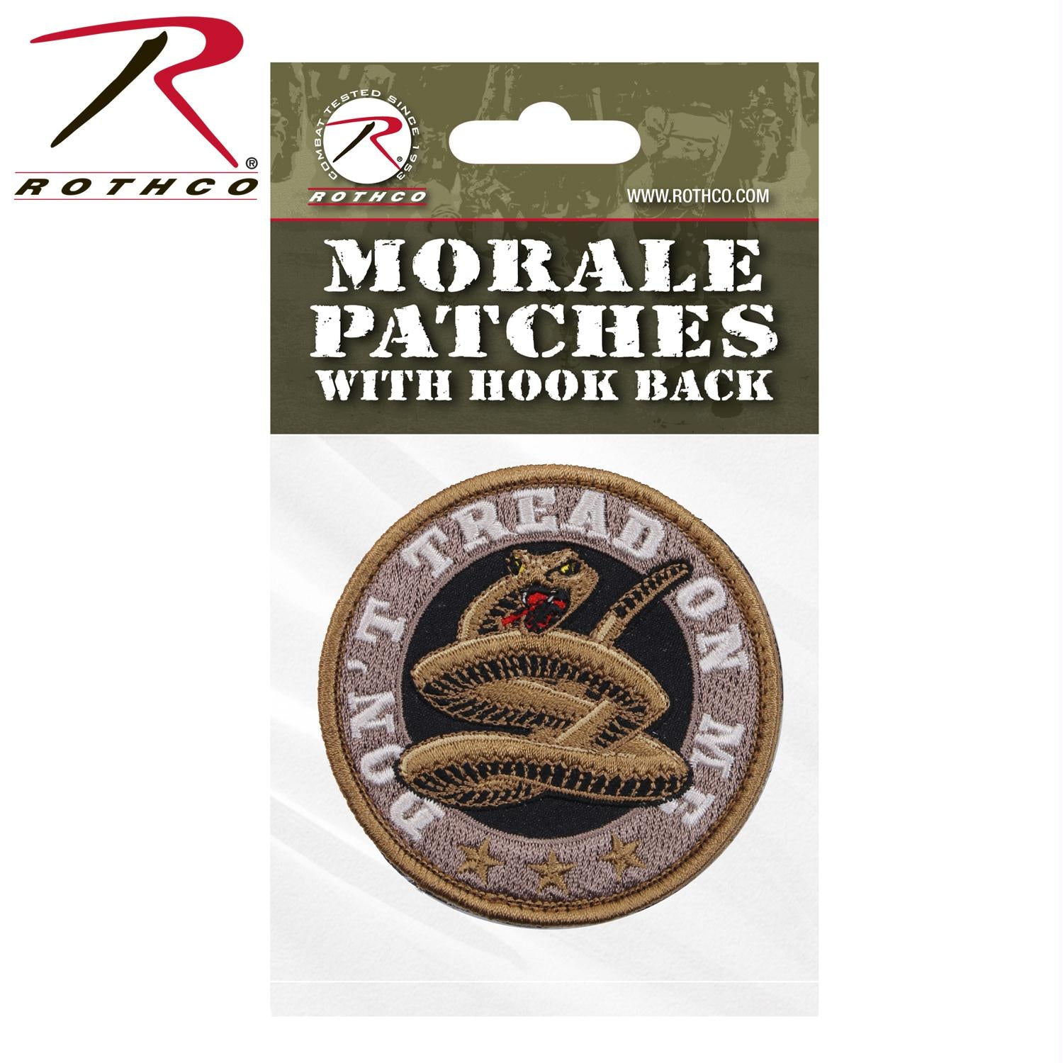 Rothco Don't Tread On Me Round Morale Patch - Header Card