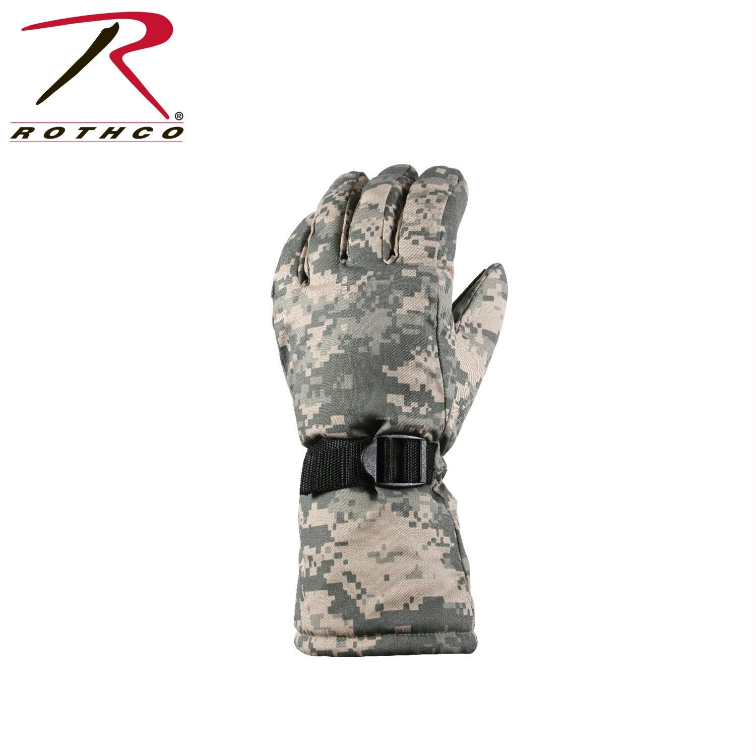 Rothco Extra-Long Insulated Gloves - ACU Digital Camo / L