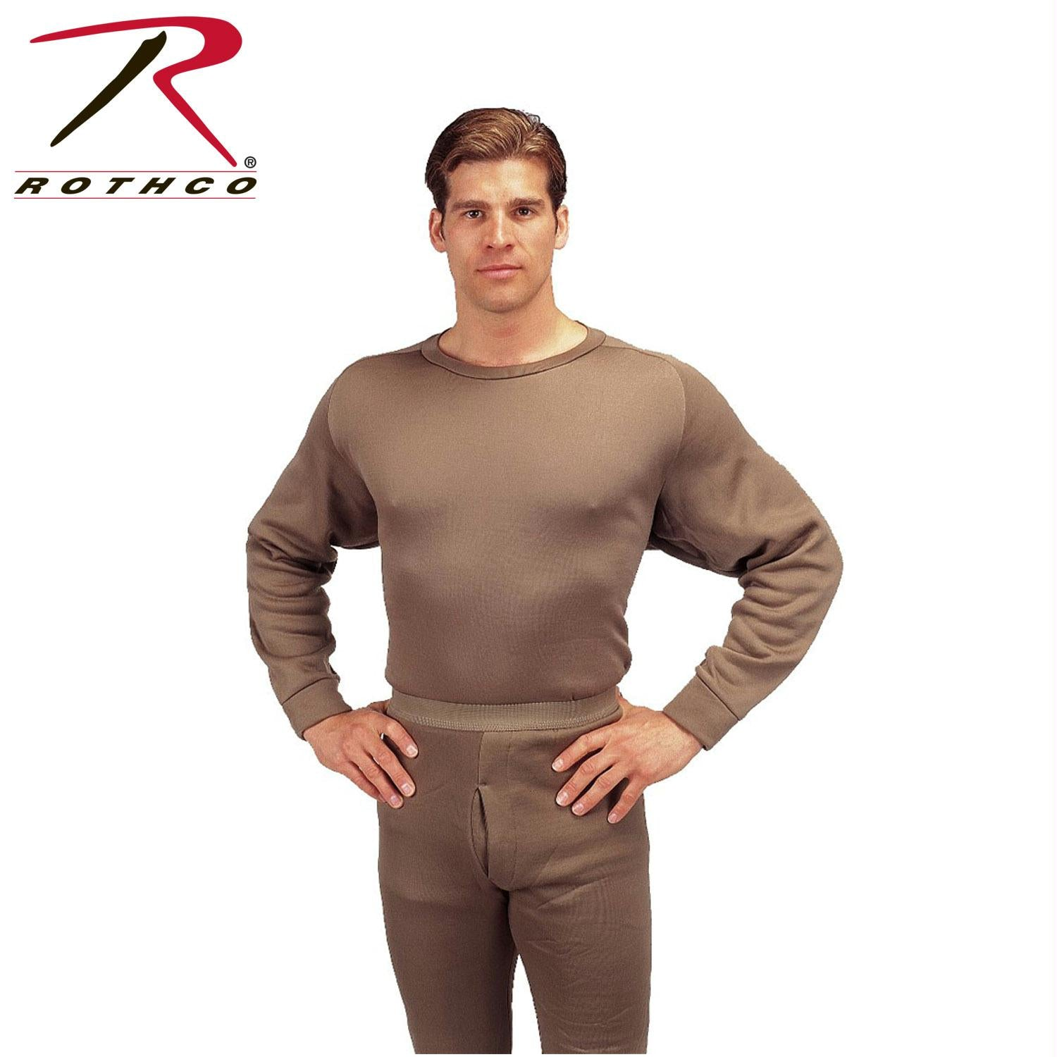 Rothco ECWCS Poly Crew Neck Top - Brown / L