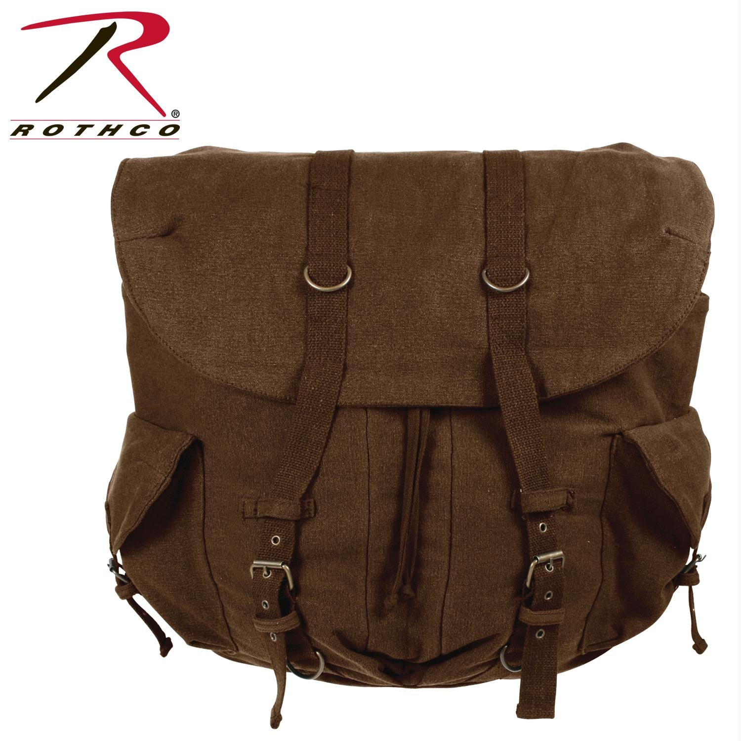 Rothco Vintage Weekender Canvas Backpack - Brown