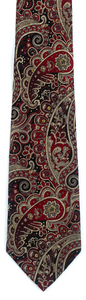 Dark red black paisley