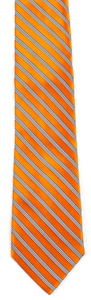 Orange white stripe