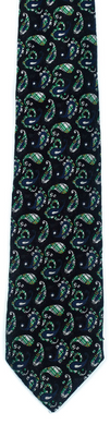 green black paisley