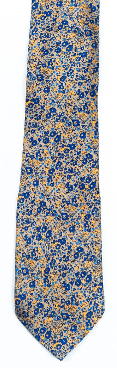 yellow blue floral