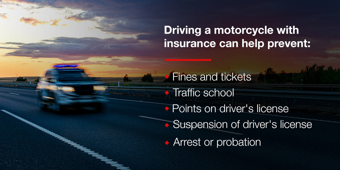 Driving a motorcycle with insurance can prevent the following from happening:
