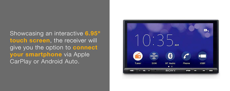 "Sony 7000 has an interactive 6.95"" touch screen."