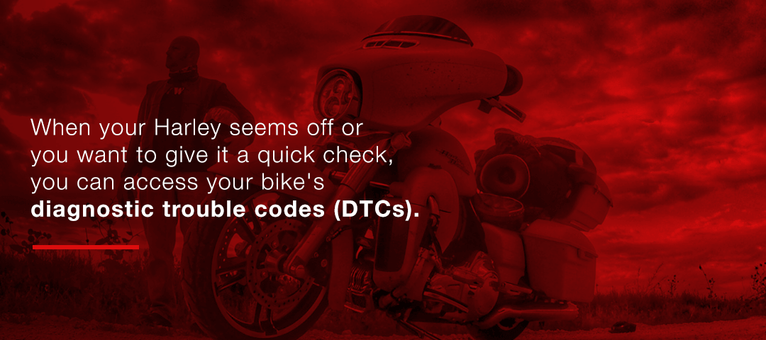 Accessing your bike's diagnostic trouble codes (DTCs)