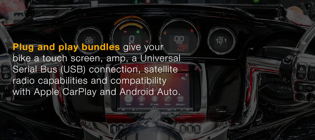 Our plug and play bundles provide compatibility with Apple CarPlay and Android Auto.