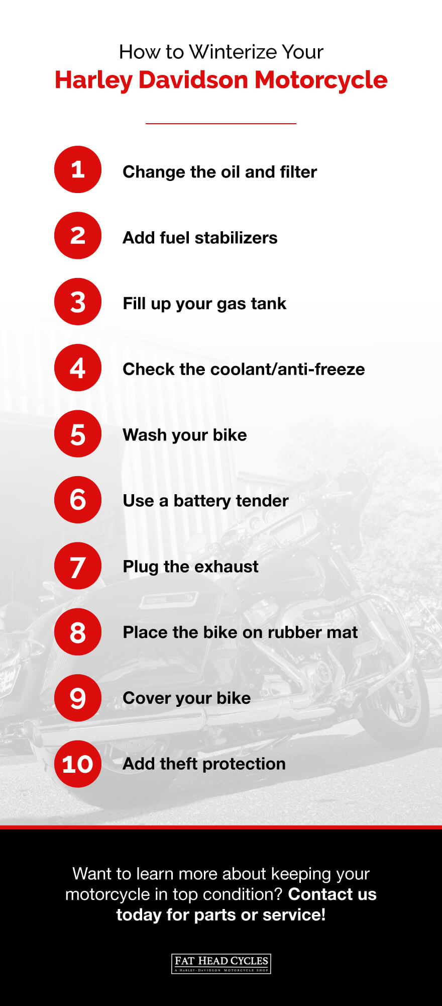10 Tips to Winterize Your Harley Davidson Motorcycle