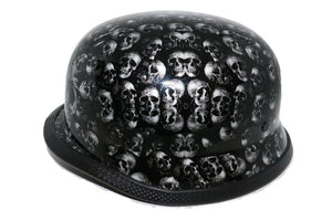 Daniel Smart Manufacturing German Novelty Select a Size H81 Novelty German Grey Skull Gloss Black - Non DOT