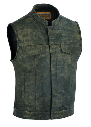 Daniel Smart Manufacturing New Arrivals DS108 Men's Conceal Carry Antique Brown Vest
