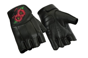 Daniel Smart Manufacturing New Arrivals DS36 Women's Embroidered Fingerless Glove