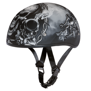 Daniel Smart Manufacturing New Arrivals Select a Size D6-G D.O.T. DAYTONA SKULL CAP - W/ GUNS