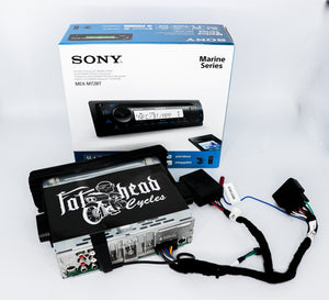 DAS Companies Harley-Davidson Custom Audio Open Box: Sony MEX-M72BT w/ Metra 99-9600 HD Install Kit Plug and Play Bundle | '99 -'13 Harley-Davidson®